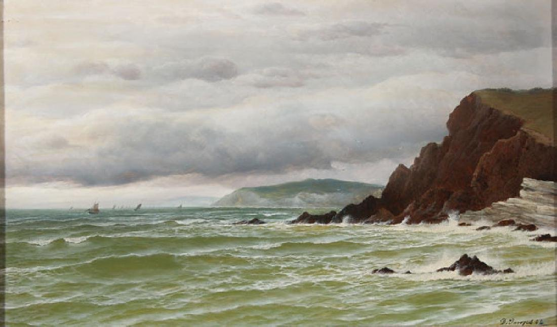 BRITISH COASTAL SCENE 1884, DAVID JAMES (1853-1904)