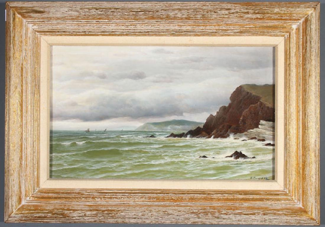 BRITISH COASTAL SCENE 1884, DAVID JAMES (1853-1904) - 2