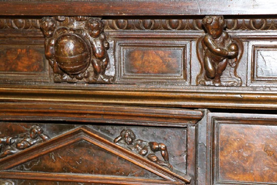 AN ITALIAN FIGURAL CARVED WOOD BAMBOCCI CABINET - 2