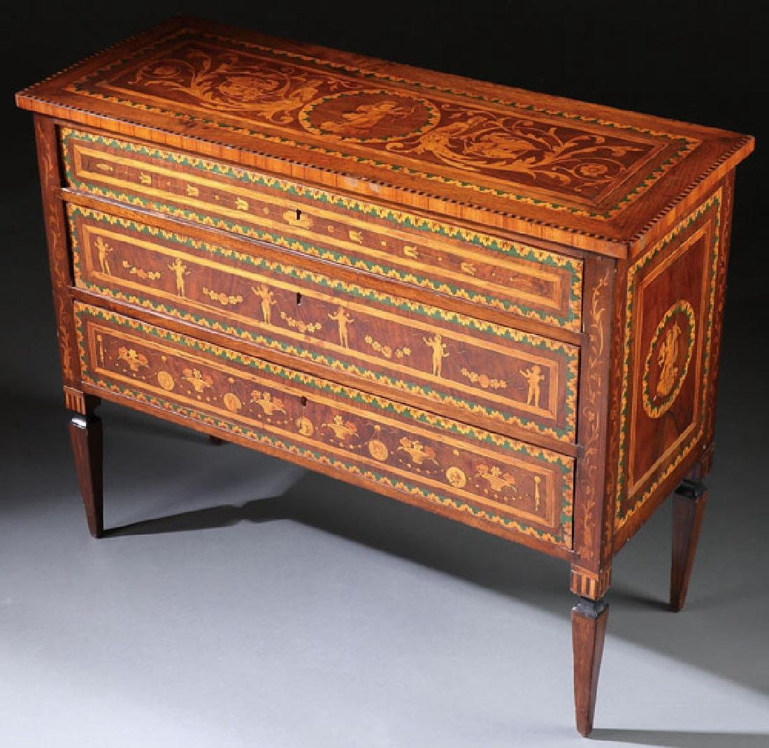 AN 18TH CENTURY ITALIAN MARQUETRY COMMODE - 3