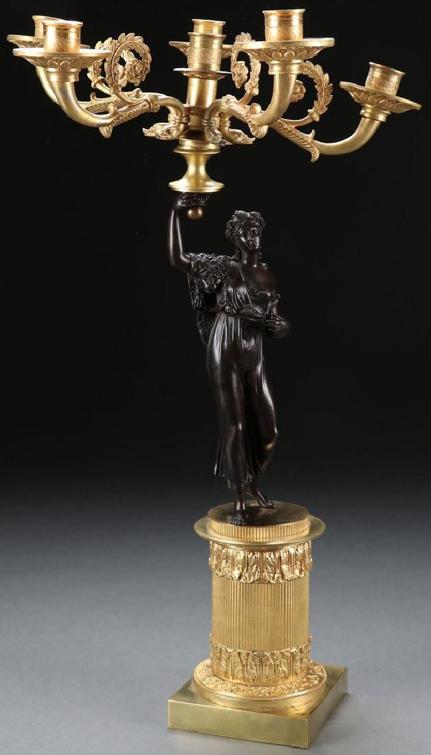 A FRENCH EMPIRE STYLE CANDELABRUM, 20TH CENTURY