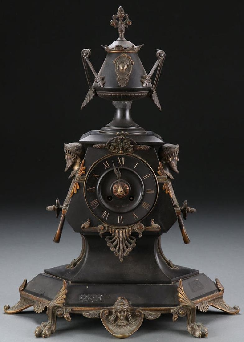 A FRENCH NEO-CLASSIC MANTLE CLOCK, 19TH CENTURY