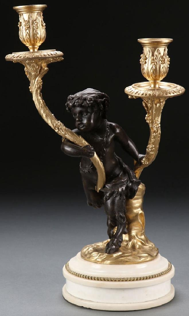 A LOUIS XV STYLE FIGURAL CANDELABRUM, 19TH C