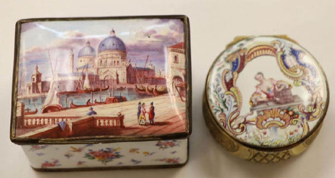 A GOOD GROUP OF CONTINENTAL ENAMELED WARES - 5