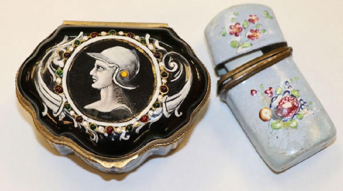 A GOOD GROUP OF CONTINENTAL ENAMELED WARES - 6