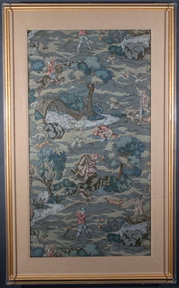 AN AUBUSSON TAPESTRY REMNANT, PROBABLY FRENCH