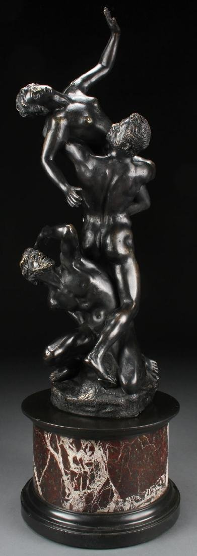 VICTORIAN STYLE BRONZE FIGURAL GROUP