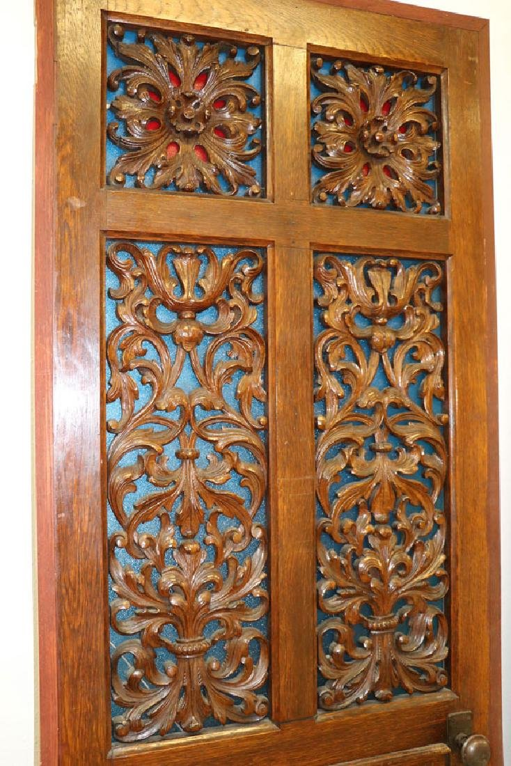 A PAIR OF VICTORIAN OAK PARLOR DOORS, LATE 19TH C - 2