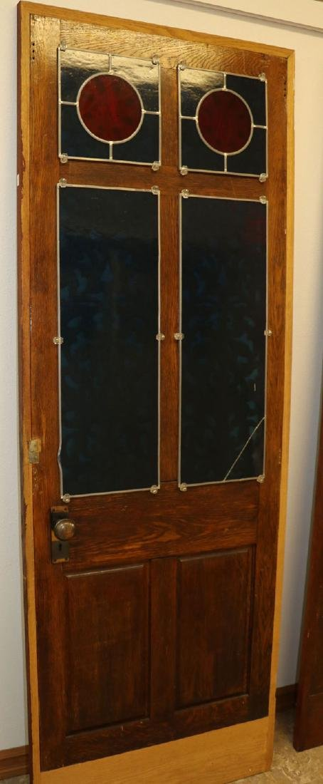A PAIR OF VICTORIAN OAK PARLOR DOORS, LATE 19TH C - 3