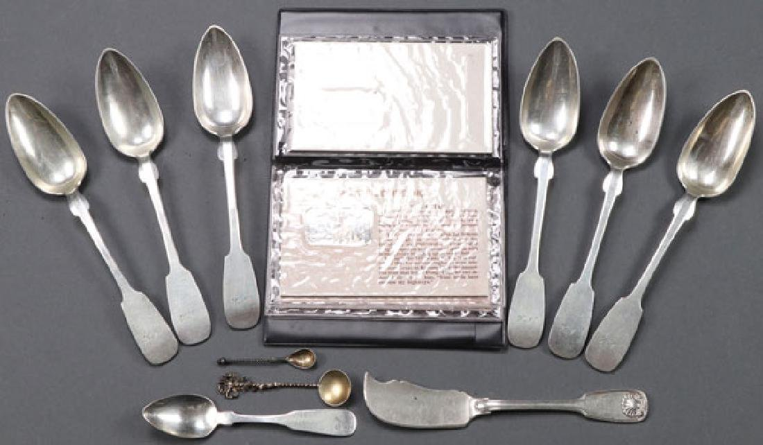 A SILVER FLATWARE GROUP, 19TH CENTURY
