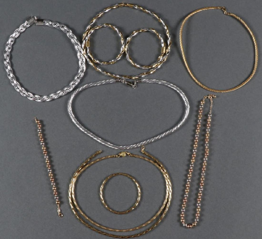 SIX 14KT GOLD NECKLACE AND CHOKERS