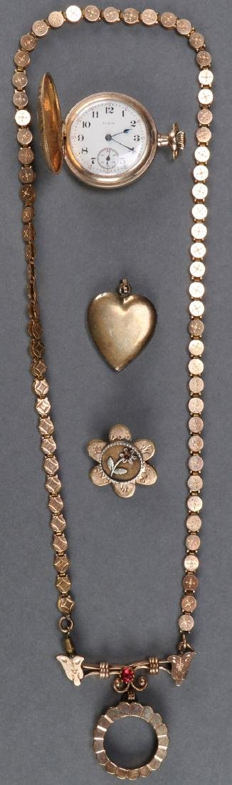 A VICTORIAN WATCH AND JEWELRY GROUP
