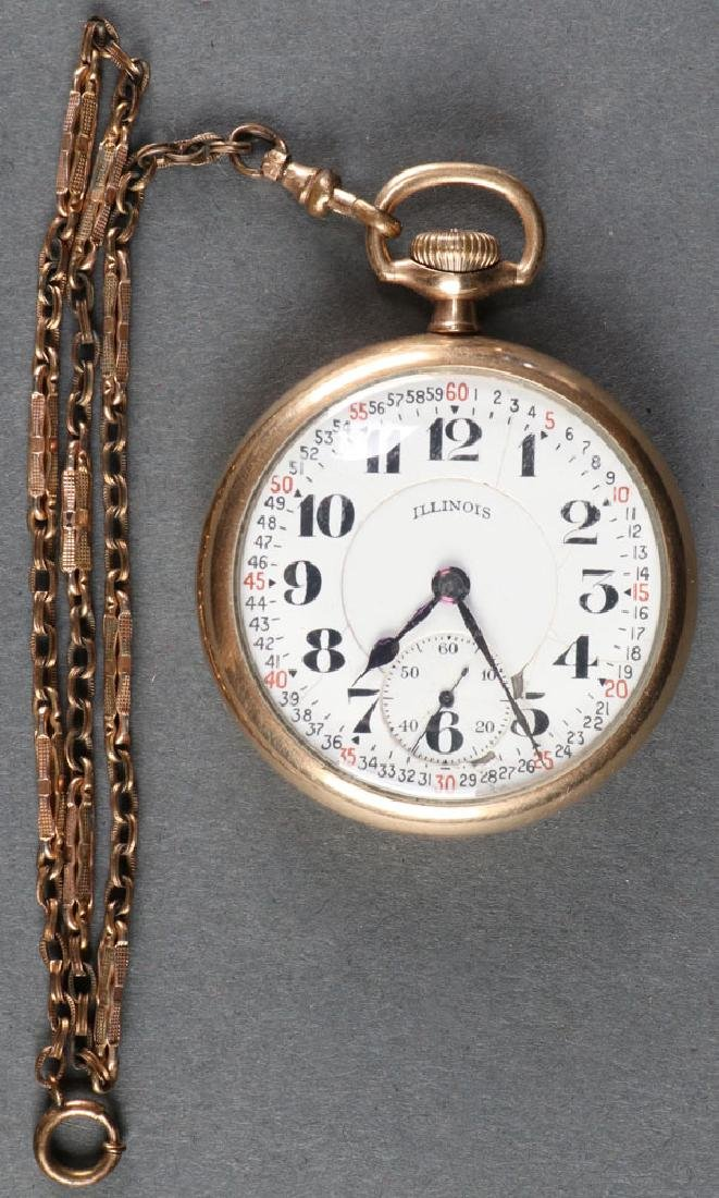 ILLINOIS BUNN SPECIAL 21J POCKET WATCH, C. 1922