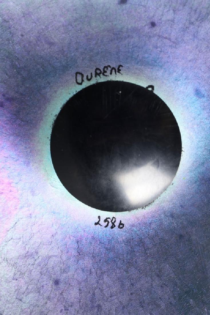 A STEUBEN BLUE AURENE ART GLASS LOW BOWL - 2