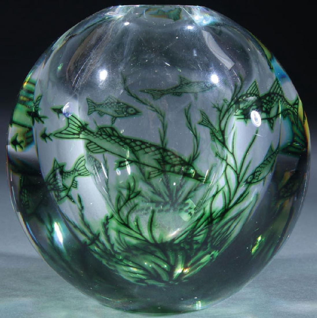 EDVARD HALD ORREFORS ART GLASS VASE