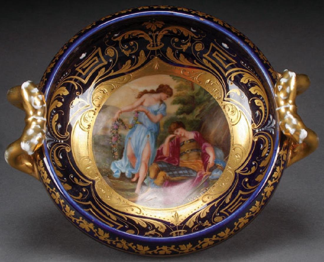 A ROYAL VIENNA STYLE SCENIC LOW BOWL, CIRCA 1900
