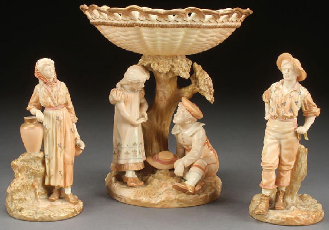 3 ROYAL WORCESTER PORCELAIN FIGURES