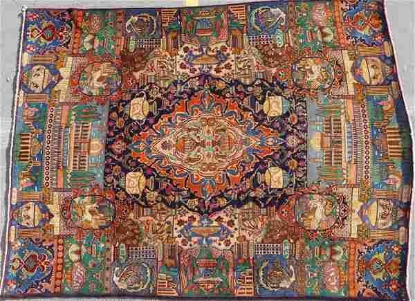 A PERSIAN ORIENTAL NASHSH'E JAHAN RUG