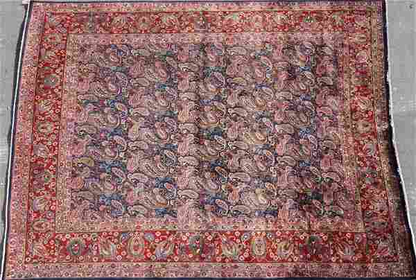 A PERSIAN HERIZ ROOM SIZED RUG, MID 20TH C