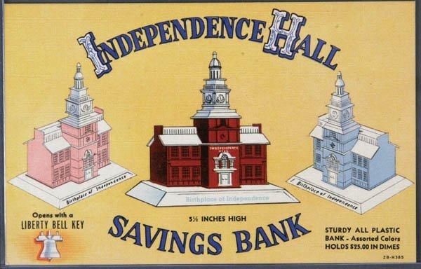 12: A RARE LINEN ADVERTISING POSTCARD Still Bank Adve