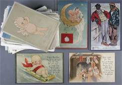 995 APPROX 25 ROSE ONEILL KEWPIES POSTCARDS some ra