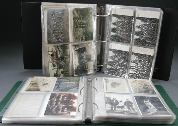 1145: APPROX. 300 POSTCARDS relating to hunting, mixtur