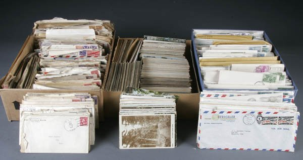 1417: POSTCARDS AND POSTALLY USED ENVELOPES late 19th-m