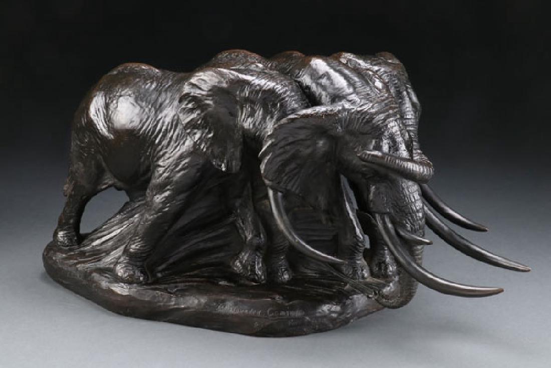 CARL E. AKELEY BRONZE - WOUNDED COMRADE 1913