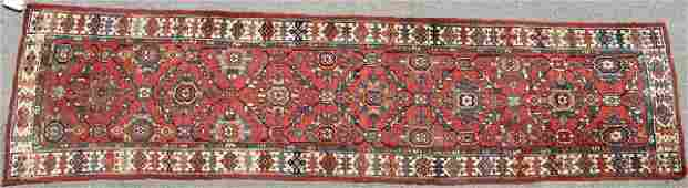 TWO CAUCASIAN HAND WOVEN ORIENTAL RUNNERS