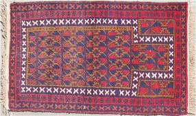 A GROUP OF THREE HAND WOVEN ORIENTAL RUGS