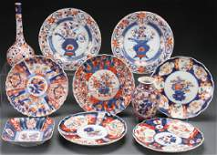 10 PIECE GROUP OF CHINESE EXPORT IMARI PORCELAIN