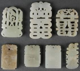 Seven Chinese Carved Jade Ornaments