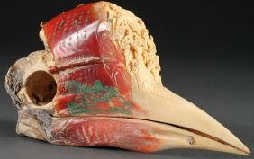 A Fine Chinese Carved Hornbill Casque