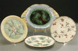 99: A 4-PIECE GROUP OF 19TH C. MAJOLICA consisting of