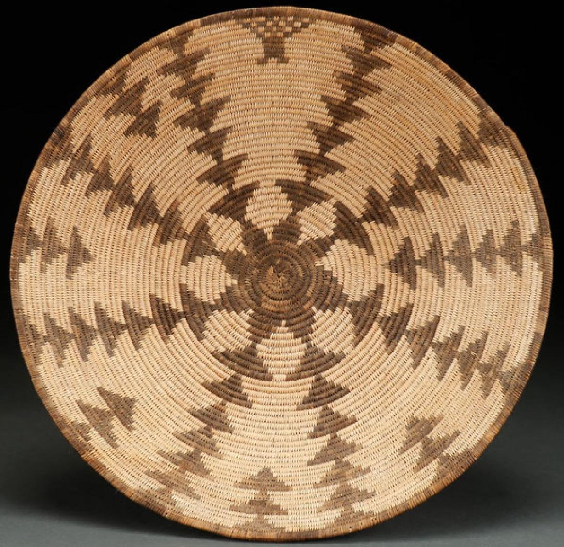 A LARGE APACHE BASKETRY BOWL, CIRCA 1920