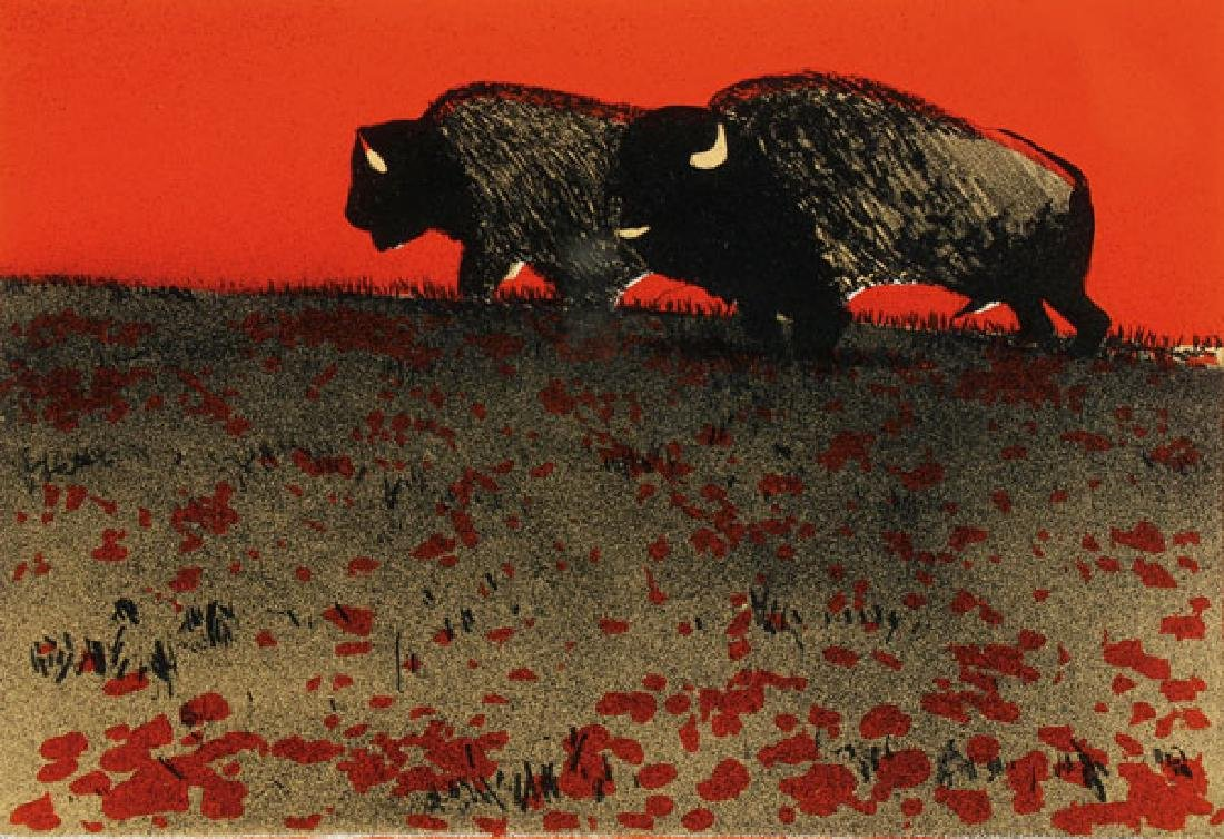 A PAIR OF FRITZ SCHOLDER SIGNED LITHOGRAPHS