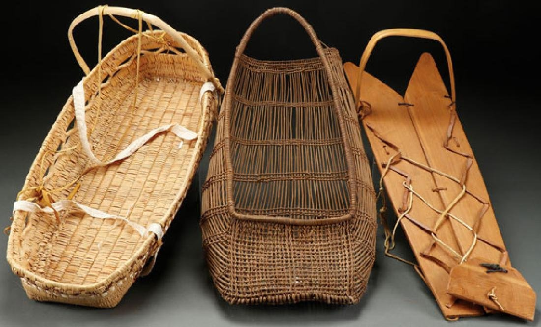 THREE NATIVE AMERICAN CRADLES, CIRCA 1925-1975