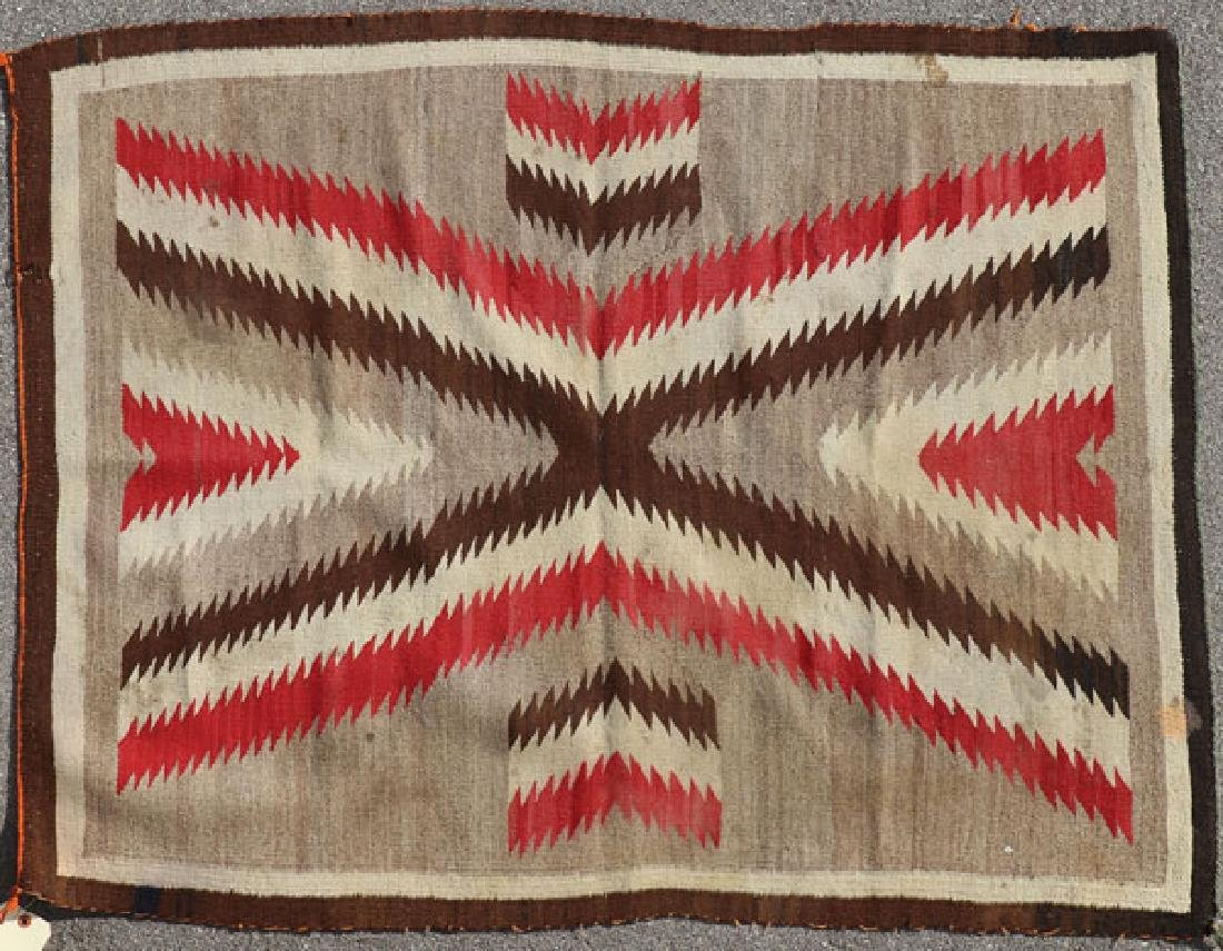 THREE NAVAJO RUGS, 1ST HALF OF THE 20TH CENTURY