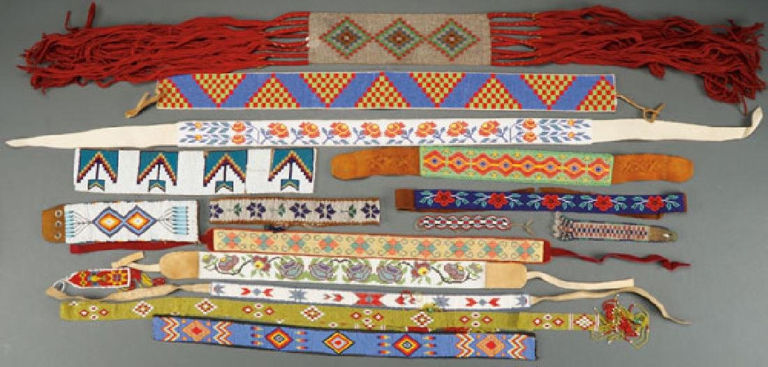 GROUP OF 16 BEADED ACCESSORIES, VARIOUS CULTURES