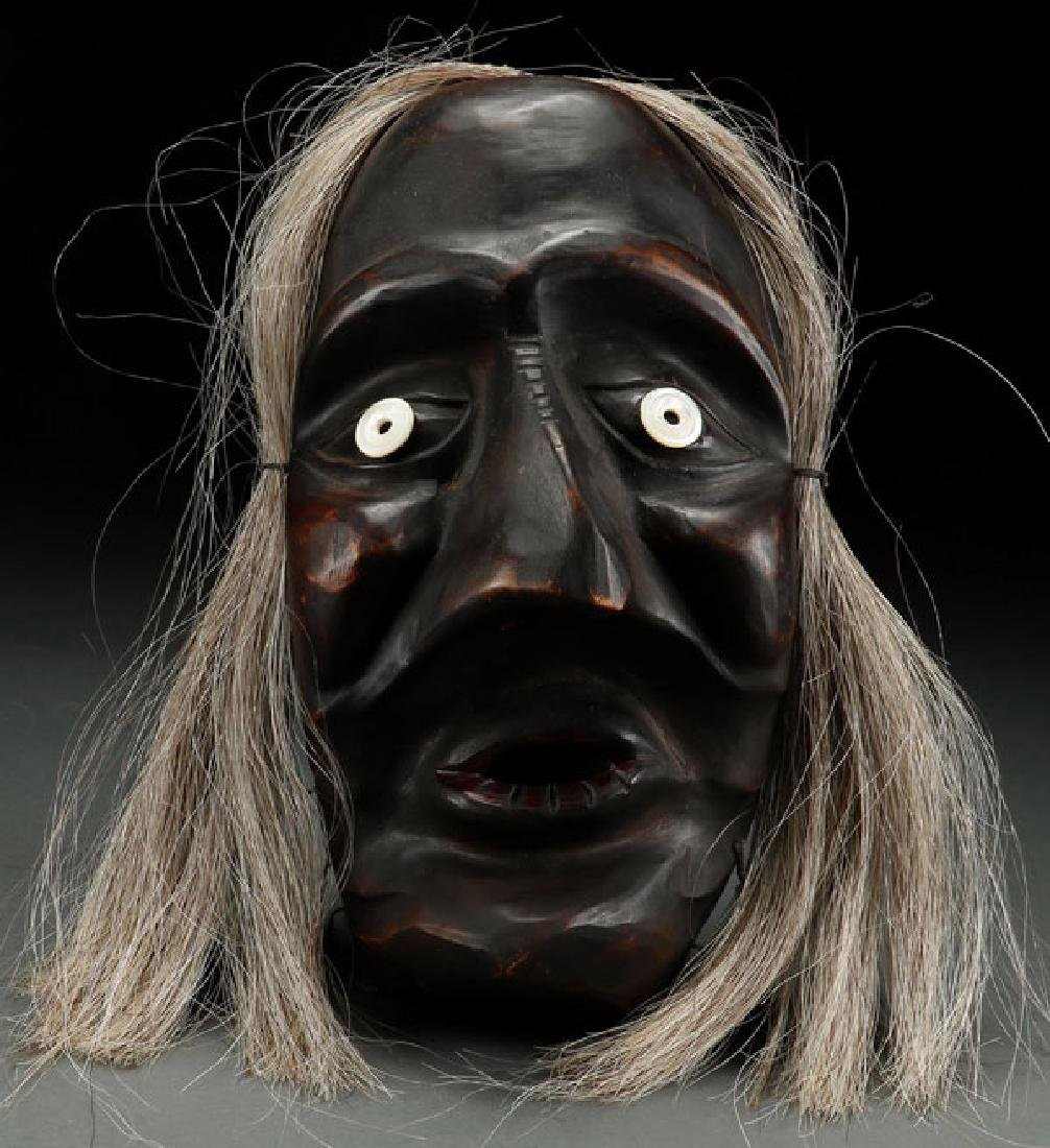 A GOOD IROQUOIS FALSE FACE MASK