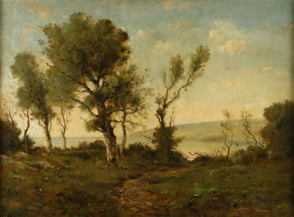 ORIGINAL SIGNED HARPIGNIES BARBIZON LANDSCAPE