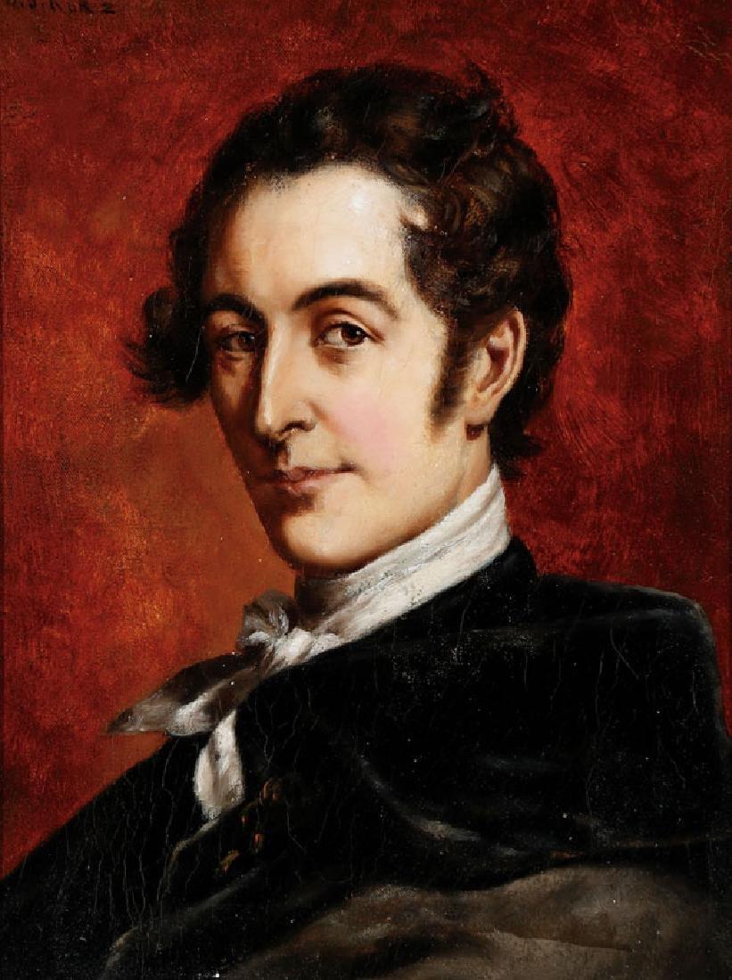 ARTIST SIGNED AUSTRIAN PORTRAIT C, 1850