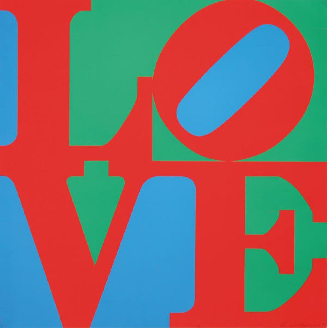 ORIGINAL ROBERT INDIANA SIGNED SILKSCREEN