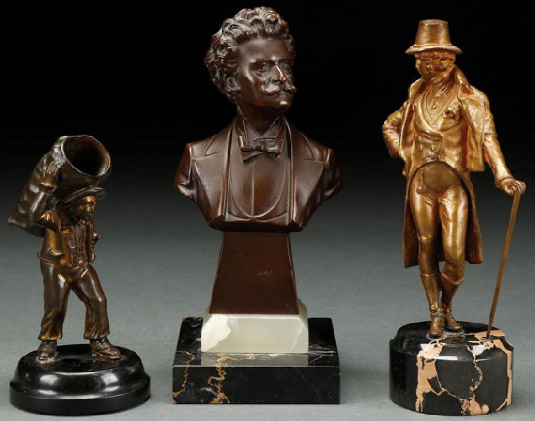 A GROUP OF THREE MINIATURE BRONZES