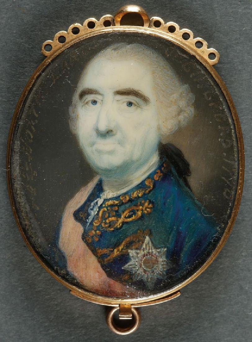 A VERY FINE PORTRAIT MINIATURE, BRITISH, 18TH C