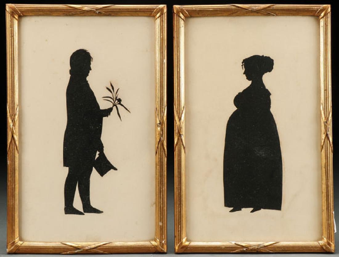 A PAIR OF INTERESTING SILHOUETTES, CIRCA 1820