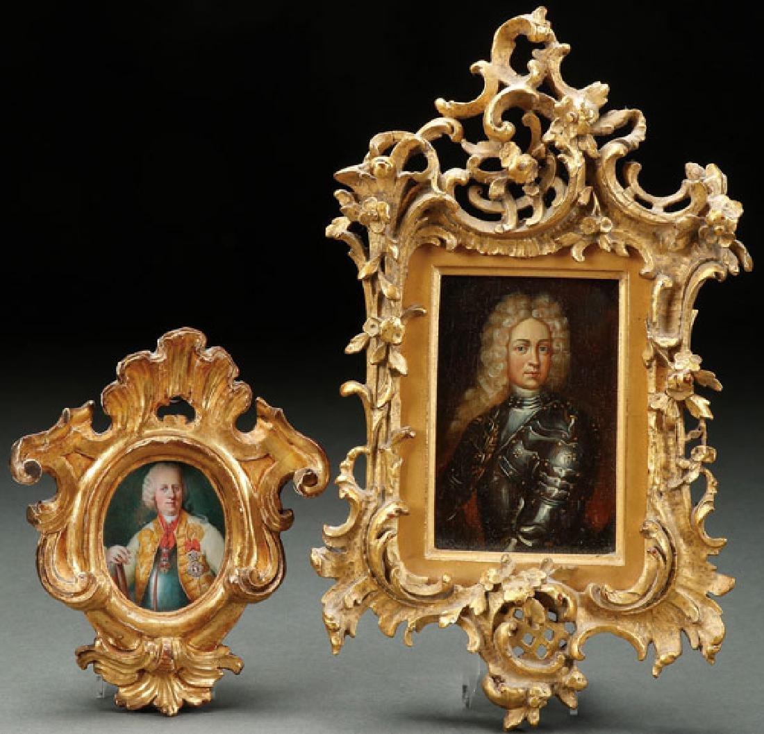A PAIR OF PORTRAIT MINIATURES, 18TH CENTURY