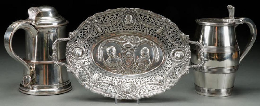 AN 18TH AND 19TH CENTURY SILVER AND SILVERPLATE