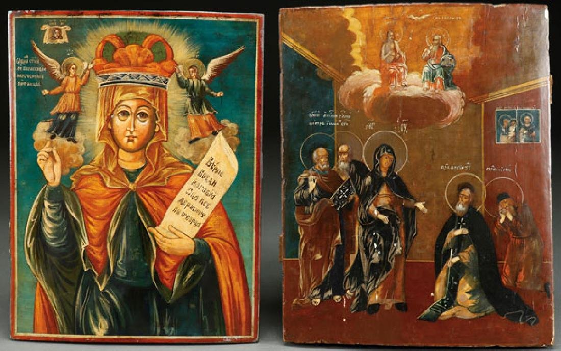 A PAIR OF RUSSIAN ICONS, 1ST HALF OF 20TH CENTURY