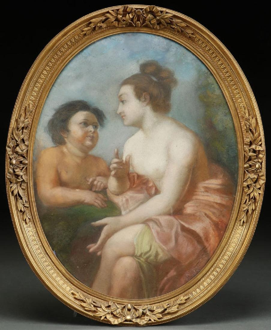 A FRENCH PASTEL OF CUPID AND PSYCHE, 18TH CENTURY